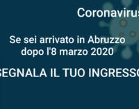 Coronavirus: 406 rientri in Abruzzo dopo l'8 marzo, segnalati sul portale della Regione