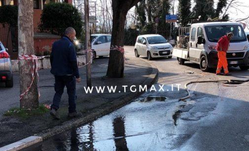 Lanciano: rottura dell'acquedotto, riparazione in corso in via Spaventa