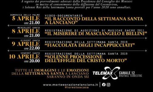 """Settimana Santa: su Telemax l'Audizione di musiche sacre con """"Il miserere di Masciangelo e Bellini"""" e le processioni"""