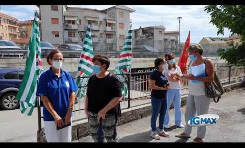 Lanciano: al SanStefar la protesta dei dipendenti della sanità privata