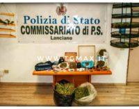 Droga a Fossacesia: arrestato con 7 chili di marijuana in casa