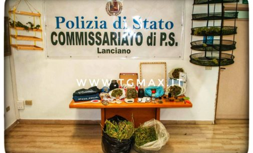 Droga a Fossacesia: arrestato con 7 chili di marijuana in casa