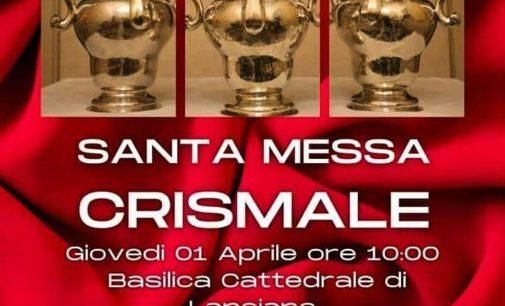 Lanciano: la S.Messa del Crisma in diretta dalla cattedrale della Madonna del Ponte