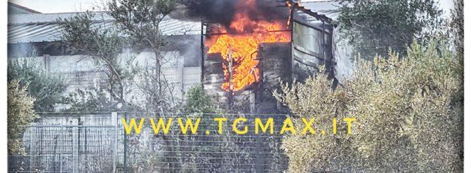 Lanciano: incendio tra Villa Andreoli e Iconicella, sul posto i vigili del fuoco