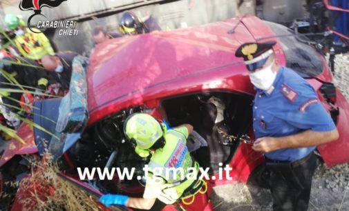 Fossacesia: incidente treno merci e autovettura, dimessi dall'ospedale papà e neonato