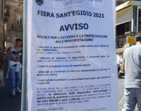 Fiera S.Egidio con obbligo di green pass e mascherina, le norme sui cartelli