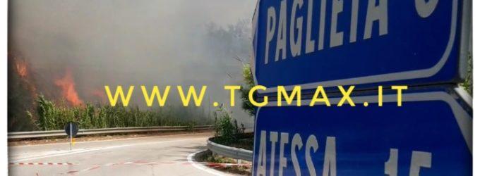Incendi tra la costa dei trabocchi e la val di Sangro, è allarme