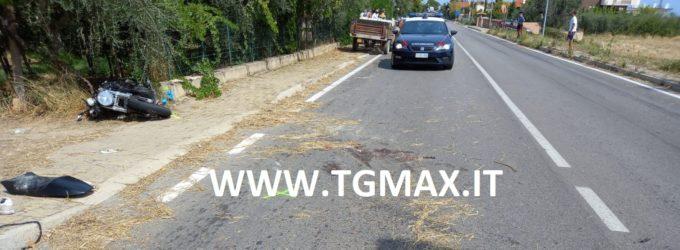 Crecchio: scontro tra motocicletta e trattore, poliziotto in prognosi riservata