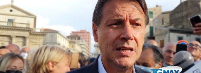 """Giuseppe Conte a Lanciano per il tour elettorale, """"votate M5s se credete nel nostro programma"""""""
